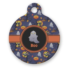 Halloween Night Round Pet Tag (Personalized)