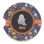 Halloween Night Sandstone Car Coasters (Personalized)