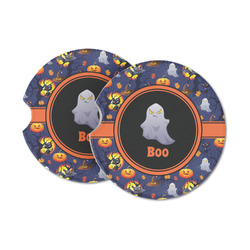 Halloween Night Sandstone Car Coasters (Personalized)
