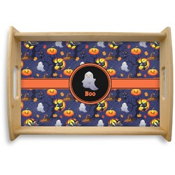 Halloween Night Natural Wooden Tray (Personalized)