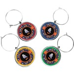 Halloween Night Wine Charms (Set of 4) (Personalized)