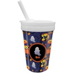 Halloween Night Sippy Cup with Straw (Personalized)
