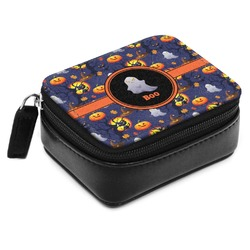 Halloween Night Small Leatherette Travel Pill Case (Personalized)