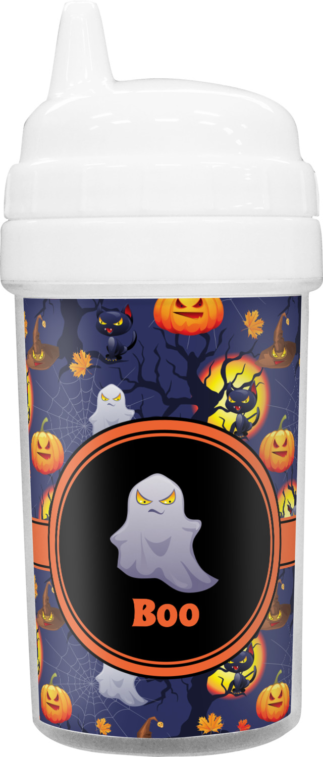 halloween night toddler sippy cup personalized