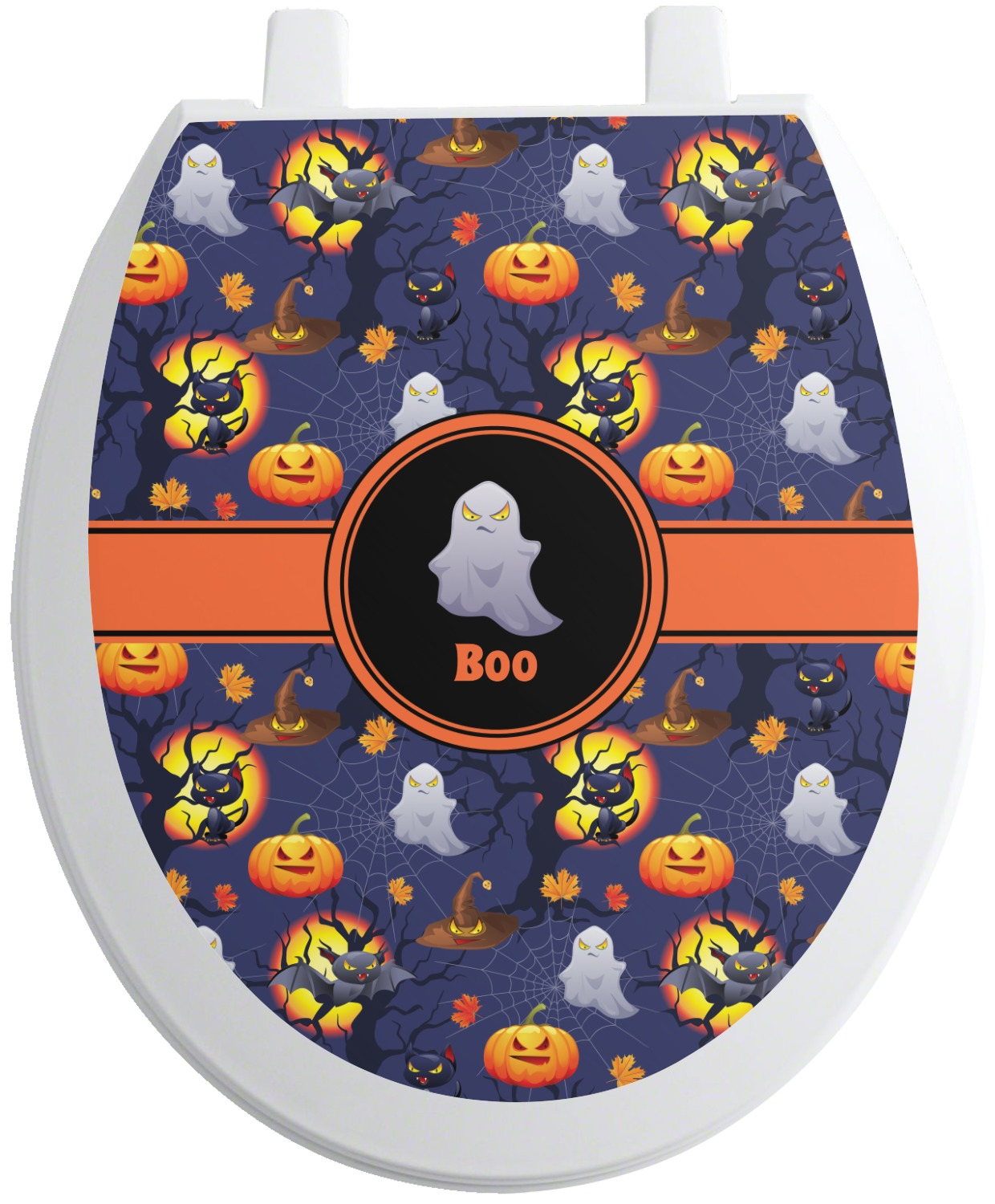 Halloween Night Toilet Seat Decal Personalized