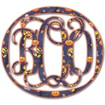 Halloween Night Monogram Decal - Custom Sized (Personalized)