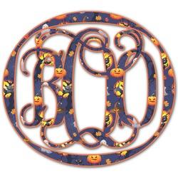 Halloween Night Monogram Decal - Medium (Personalized)