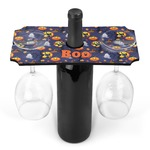 Halloween Night Wine Bottle & Glass Holder (Personalized)