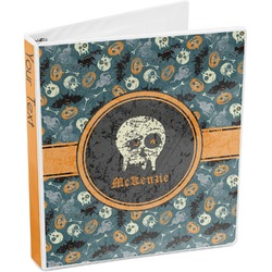 Vintage / Grunge Halloween 3-Ring Binder (Personalized)
