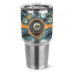 Vintage / Grunge Halloween Stainless Steel Tumbler - 30 oz (Personalized)