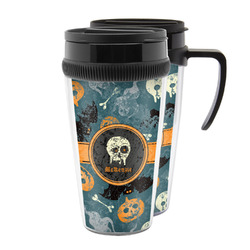 Vintage / Grunge Halloween Acrylic Travel Mugs (Personalized)