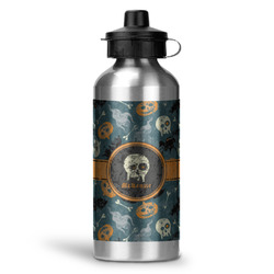Vintage / Grunge Halloween Water Bottle - Aluminum - 20 oz (Personalized)