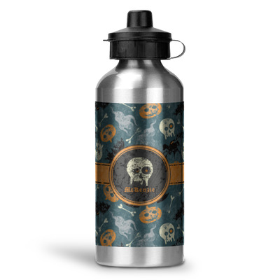Vintage / Grunge Halloween Water Bottle - Aluminum - 20 oz (Personalized)