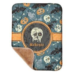 "Vintage / Grunge Halloween Sherpa Baby Blanket 30"" x 40"" (Personalized)"