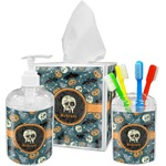 Vintage / Grunge Halloween Bathroom Accessories Set (Personalized)