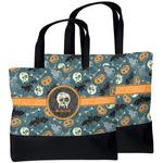 Vintage / Grunge Halloween Beach Tote Bag (Personalized)