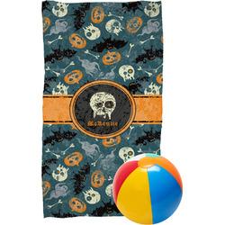 Vintage / Grunge Halloween Beach Towel (Personalized)