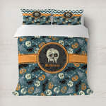 Vintage / Grunge Halloween Duvet Cover (Personalized)