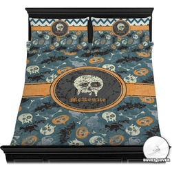 Vintage / Grunge Halloween Duvet Cover Set (Personalized)