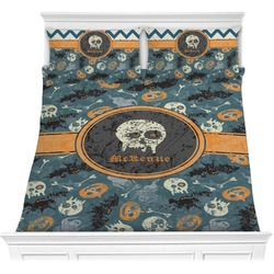 Vintage / Grunge Halloween Comforter Set (Personalized)