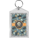 Vintage / Grunge Halloween Bling Keychain (Personalized)