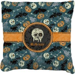 Vintage / Grunge Halloween Faux-Linen Throw Pillow (Personalized)