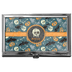 Vintage / Grunge Halloween Business Card Holder