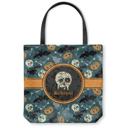 Vintage / Grunge Halloween Canvas Tote Bag (Personalized)