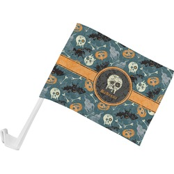 Vintage / Grunge Halloween Car Flag (Personalized)
