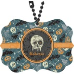 Vintage / Grunge Halloween Rear View Mirror Charm (Personalized)