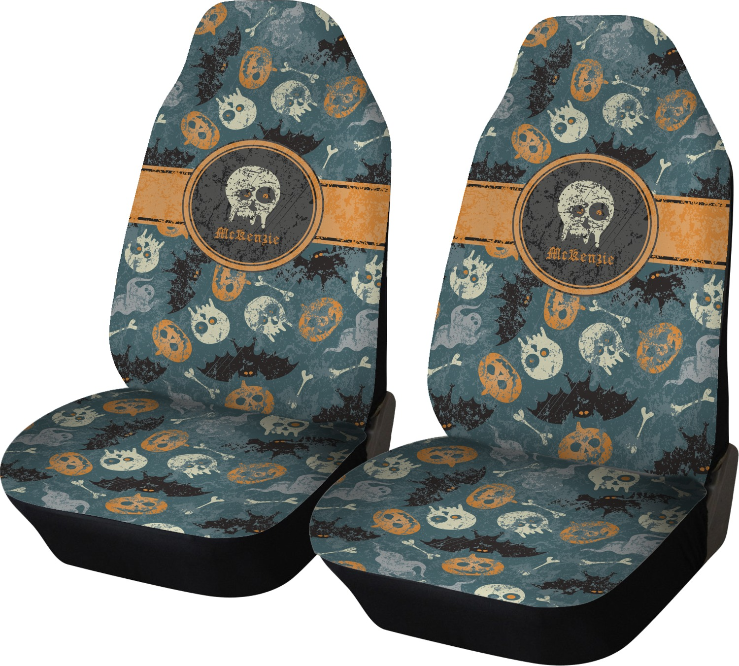 vintage grunge halloween car seat covers set of two personalized youcustomizeit. Black Bedroom Furniture Sets. Home Design Ideas