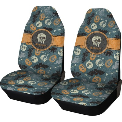 Vintage Grunge Halloween Car Seat Covers Set Of Two