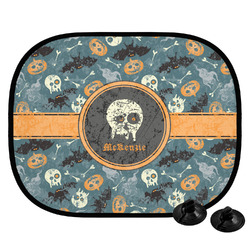 Vintage / Grunge Halloween Car Side Window Sun Shade (Personalized)