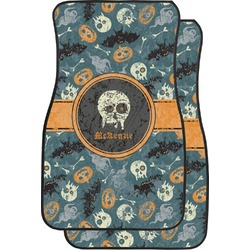 Vintage / Grunge Halloween Car Floor Mats (Front Seat) (Personalized)
