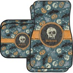 Vintage / Grunge Halloween Car Floor Mats (Personalized)