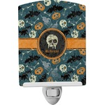 Vintage / Grunge Halloween Ceramic Night Light (Personalized)