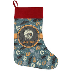 Vintage / Grunge Halloween Holiday Stocking w/ Name or Text