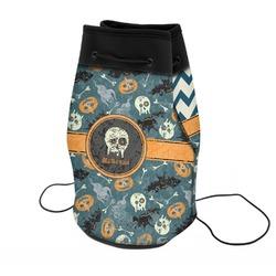 Vintage / Grunge Halloween Neoprene Drawstring Backpack (Personalized)