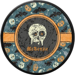 Vintage / Grunge Halloween Round Trailer Hitch Cover (Personalized)