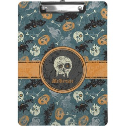 Vintage / Grunge Halloween Clipboard (Personalized)