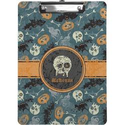 Vintage / Grunge Halloween Clipboard (Personalized)