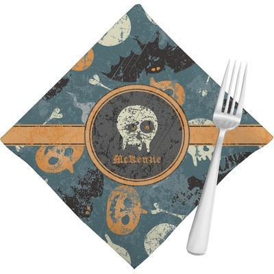 Vintage grunge halloween napkins set of 4 for Halloween cloth napkins