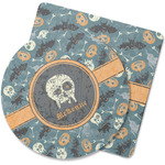 Vintage / Grunge Halloween Rubber Backed Coaster (Personalized)
