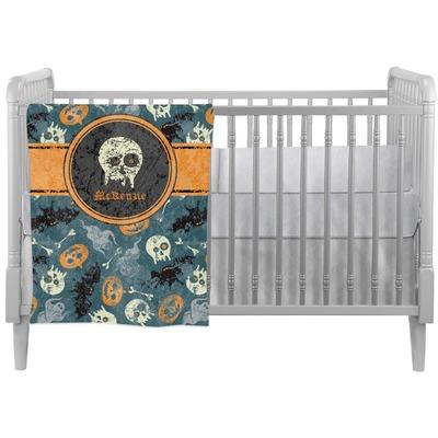 Vintage / Grunge Halloween Crib Comforter / Quilt (Personalized)