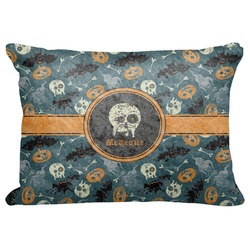 "Vintage / Grunge Halloween Decorative Baby Pillowcase - 16""x12"" (Personalized)"
