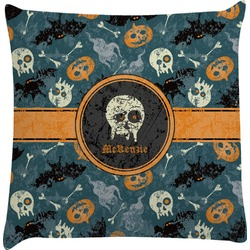 Vintage / Grunge Halloween Decorative Pillow Case (Personalized)
