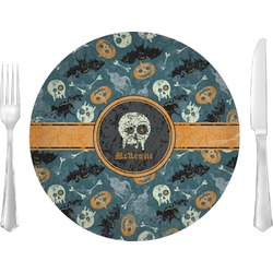 Vintage / Grunge Halloween Dinner Plate (Personalized)