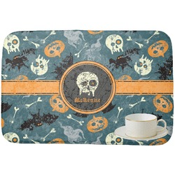 Vintage / Grunge Halloween Dish Drying Mat (Personalized)