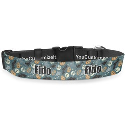 Vintage / Grunge Halloween Deluxe Dog Collar (Personalized)