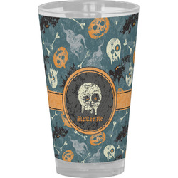 Vintage / Grunge Halloween Drinking / Pint Glass (Personalized)